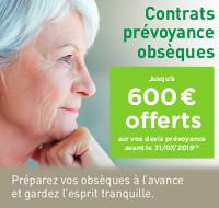 Pascal LECLERC Prévoyance - Jusqu'à 600€ offerts* sur vos devis obsèques