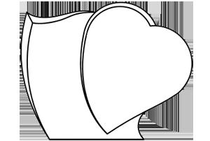 St le en forme de c ur chanfreins avec gravure fun raire for Tarif chambre funeraire