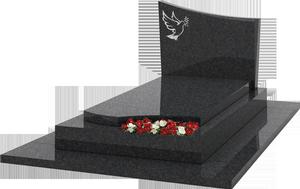 S pulture st le avec gravure jardiniere granit noir for Tarif chambre funeraire