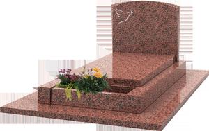 St le avec gravure jardini re sur s pulture granit for Tarif chambre funeraire