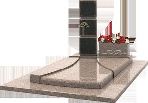 Caveau familial avec st le grav e jardini re granit for Tarif chambre funeraire
