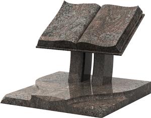 Monument cin raire forme livre granit himalaya pascal for Tarif chambre funeraire