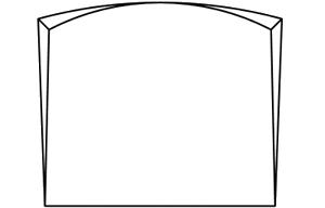 St le avec chanfreins et en courbe avec gravure fun raire for Tarif chambre funeraire