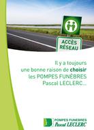 Plaquette Accès réseau Pompes Funèbres Pascal Leclerc